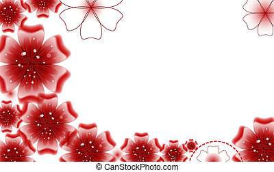 Brochure design, vector abstract background with beautiful colored flower pattern