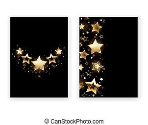 Brochure design with golden stars