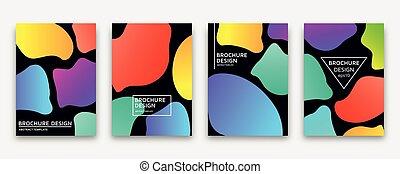 Brochure design with trendy neon gradients. Vector...