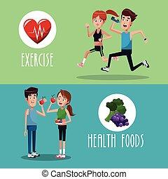 brochure exercise food healthy