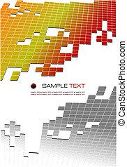 brochure., firma, tiled, illustration, korporativ, vektor, ...