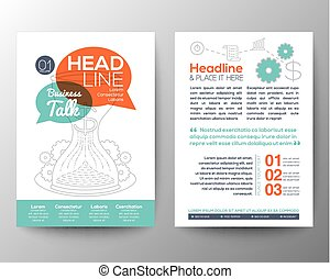 Brochure Flyer design Layout vector template with business concept illustration
