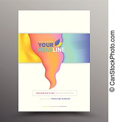 Brochure flyer design template. - Colourful annual report...