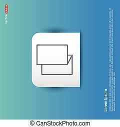 Brochure flyer icon - Blue Sticker button