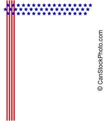 brochure frame design with american symbols