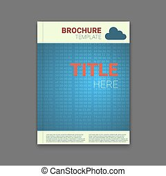 brochure template with hex codes background