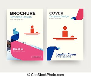 brochure, hospitalité, aviateur, conception, gabarit
