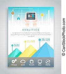 brochure, infographic, bannière, business