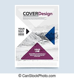 Brochure layout design vector illustration