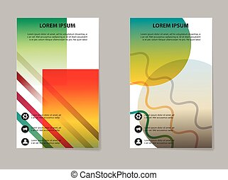 Brochure Layout template, abstract flyer cover design