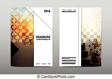 Brochure layout template flyer design vector, Magazine ...