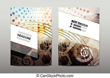 Brochure layout template flyer design vector, Magazine...