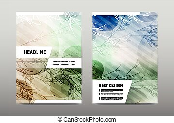 Brochure layout template flyer design vector, Magazine...