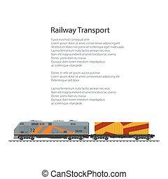 Brochure Locomotive with Orange Cargo Container