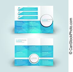 Brochure mock up design template tri-fold - Brochure mock up...