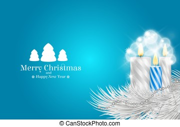 Brochure on Merry Christmas and Happy New Year theme