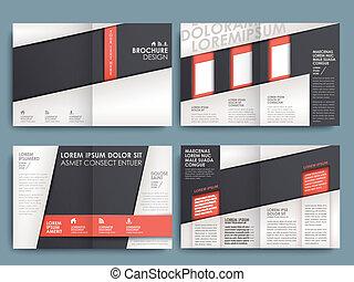 brochure, opsætning, vektor, konstruktion, skabelon