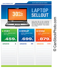 brochure, ordinateur portable, ordinateur cahier