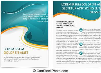 Brochure page - Vector broshure pages. Template.