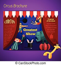brochure, performance, cirque