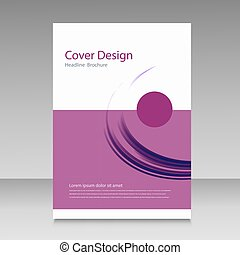 brochure, résumé, couverture, fond