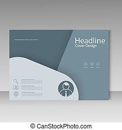 Brochure template cover material design