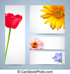 Brochure template design, flower layout backgrounds