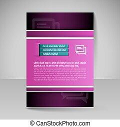 Brochure template. Editable A4 poster for design, presentation, magazine cover