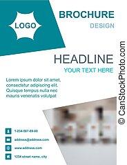 Brochure template flyer background design for business