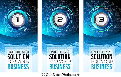 Brochure template, Flyer Design or Depliant Cover for business presentation