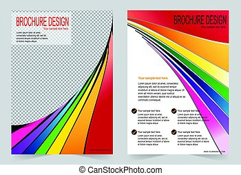 rainbow flyer template design abstract flyer template in rainbow