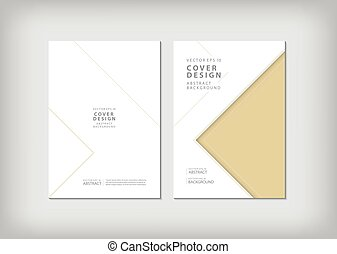 Brochure template layout, cover design annual report, magazine, flyer or booklet in A4 with blue geometric shapes triangle background. Vector Illustration.