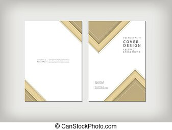 Brochure template layout, cover design annual report, magazine, flyer or booklet in A4 with blue geometric shapes zigzag background. Vector Illustration.