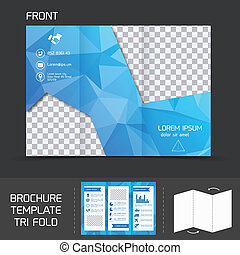 Technology Brochure Template   Technology Tri Fold Brochure Square Tech Blue Mpdern Design For Tri