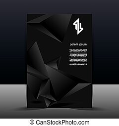 Brochure template with abstract black background
