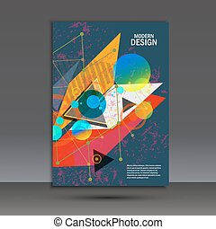 Brochure template with abstract geometric design