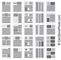 Brochure templates on the white