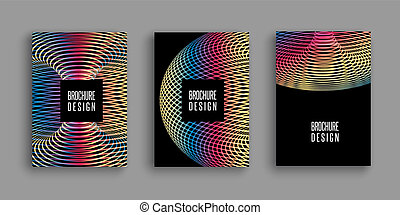 brochure templates with colourful abstract designs 0307