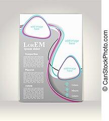 brochure, tri-fold, gabarit