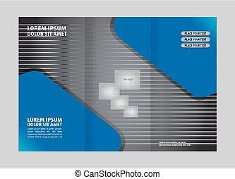 brochure, tri, gabarit, pli