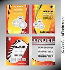 brochure, vecteur, affaires entreprise