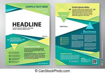 brochure, vecteur, conception, a4, template.