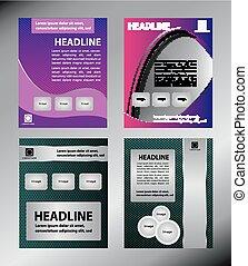 brochure, vecteur, couverture, business