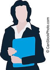 brochuren, branche kvinde