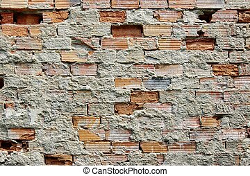 Brocken Brick Wall. Background and Texture for text or image...