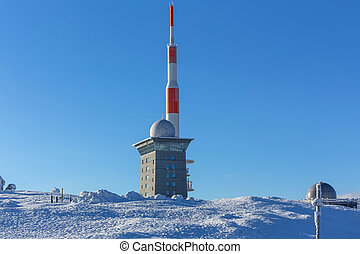 brocken mountain germany in the winter