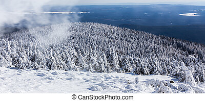 brocken mountain germany winter landscape