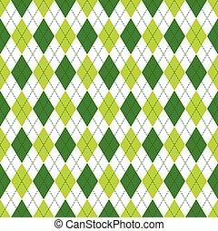 brocket, mönster, argyle, pattern., seamless, color., mörk, vektor, grön, mjuk