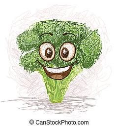 brocoli, heureux