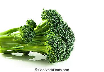 Brocolli Floret - A floret of brocolli against a white ...
